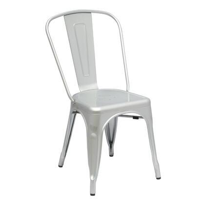 Fine Mod Imports FMI10014SILVER Talix Series  Metal Frame  Patio Chair