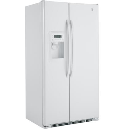 GE GSCF3PGXWW Freestanding Side by Side Refrigerator