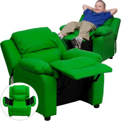 Flash Furniture BT7985KIDGRNGG Childrens Vinyl Wood Frame  Recliners