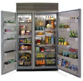 Northland 72SSSGX  Counter Depth Side by Side Refrigerator with 48.3 cu. ft. Capacity in Glass Refrigerator/Stainless Freezer Door