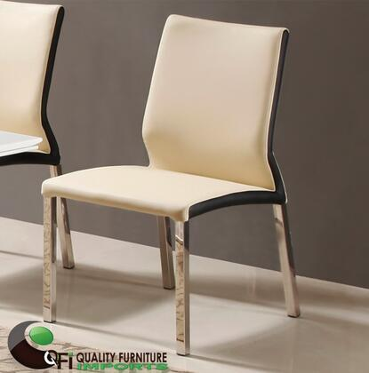 QFI DC1611 Modern Leather Metal Frame Dining Room Chair