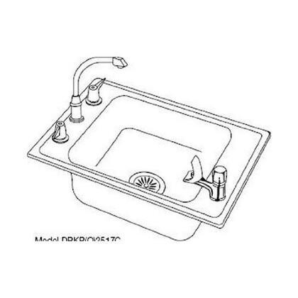 Elkay DRKAD2517550 Lustertone Single Bowl Classroom Sink