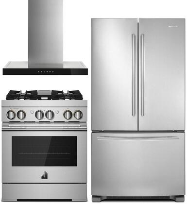 Jenn Air 989035 3 Piece Stainless Steel Kitchen Appliances Package