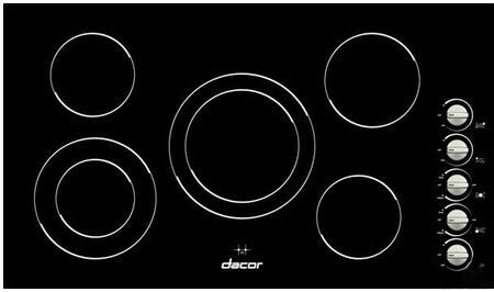 "Dacor DECT365B 36"" Distinctive Series Electric Cooktop"