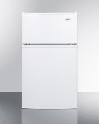 "Summit CP351Wx 19"" Freestanding Compact Refrigerator with 2.9 cu. ft. Capacity, 1 Wire Shelves, Field Reversible Doors, Right Hinge, Crisper Drawer, Cycle Defrost, in White"
