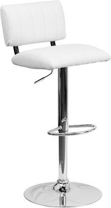 Flash Furniture CH122150WHGG Residential Vinyl Upholstered Bar Stool