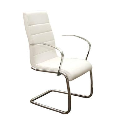 Casabianca CBF3136ARMW Avenue Series Modern Faux Leather Metal Frame Dining Room Chair