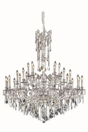 Picture of 9232G48PWRC 9232 Rosalia Collection Large Hanging Fixture D48in H54in Lt 32 Pewter Finish Royal Cut