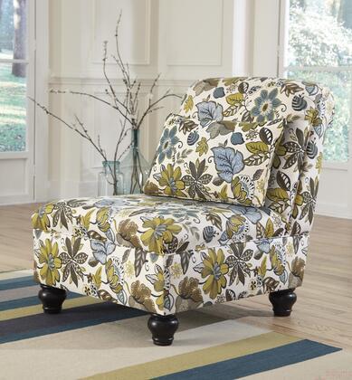 Milo Italia MI786440SHIT Kieran Series Armless Fabric Wood Frame Accent Chair
