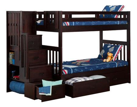 Atlantic Furniture AB63611  Twin Size Bunk Bed