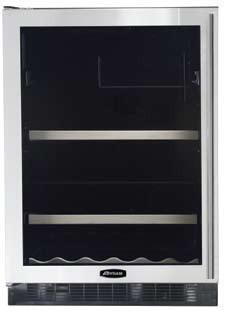 "AGA APRO6BARMCRNL 23.88"" Built-In Wine Cooler, in Red"