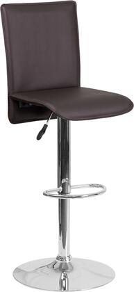 Flash Furniture CHTC31206BRNGG Residential Vinyl Upholstered Bar Stool