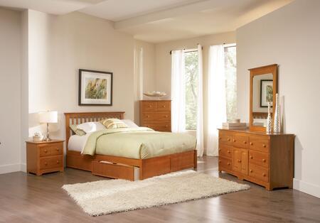 Atlantic Furniture MISFPAWTW  Twin Size Bed