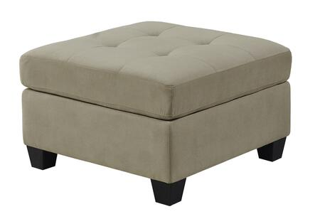 "Monarch I8376XX 32"" Ottoman with Tufted Top and Plastic Block Feet in"