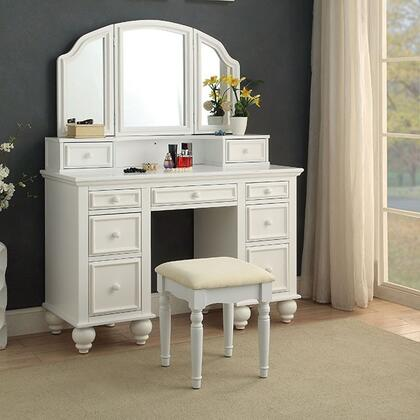 Furniture Of America Cmdk6848wh Athy Series Wood 9 Drawers Vanity