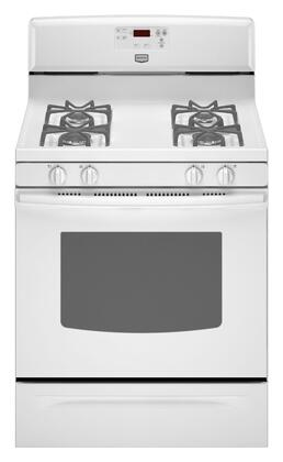 Maytag MGR7661WW  Gas Freestanding Range with Sealed Burner Cooktop, 5.0 cu. ft. Primary Oven Capacity, Storage in White