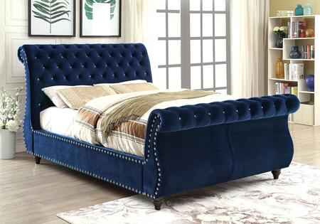 Furniture of America CM7128NVCKBED Noella Series  California King Size Bed