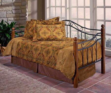 Picture of 1010DBLH Madison Daybed with Suspension Deck  Round Wire Spindles and Square Hardwood Posts and Metal Grills in Black and Cherry
