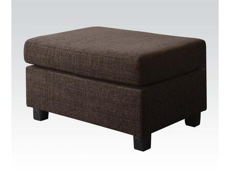 Acme Furniture 50543 Donovan Series Contemporary Fabric Ottoman