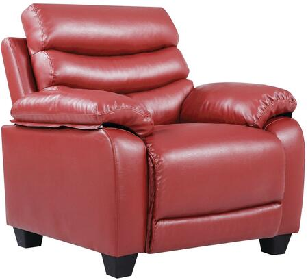 Glory Furniture G562C Faux Leather Armchair in Red