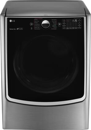 "LG DLGX5001 27"" Energy Star Gas Dryer with 7.4 cu. ft. Capacity, 5 Temperature Settings, 14 Drying Programs, TurboSteam Technology, Integrated Electronic Control Panel and Never Rust S.S. Drum, in"