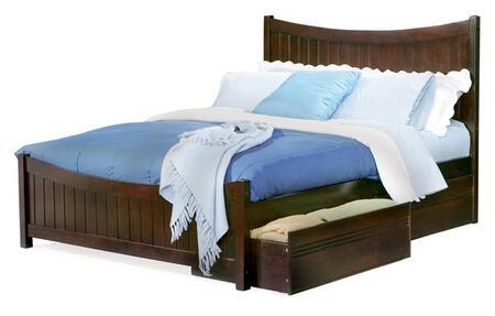 Atlantic Furniture MANHATTANMFQUEENWH Manhattan Series  Queen Size Bed