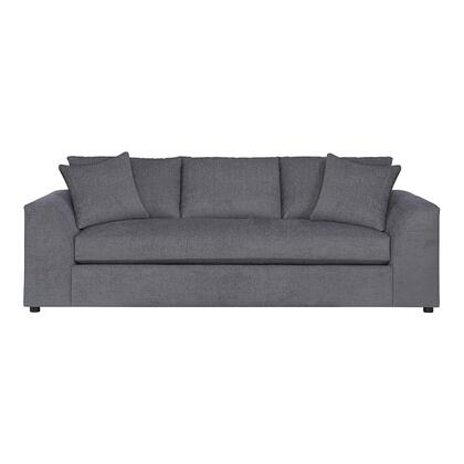 "Bassett Furniture Uptown Collection 3943-62FC/FC149-x 95"" Sofa with Fabric Upholstery, Shark Fin Designed Arms and Plush Seat and Back Cushions in"