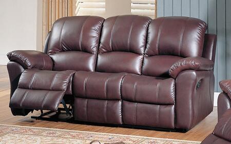 Yuan Tai KE8896SBR Kent Series Reclining Rocker Leather Sofa