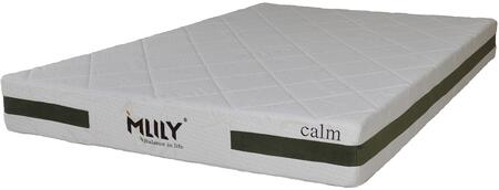 """MLily Calm Collection CALM8 8"""" Memory Foam Mattress with Bamboo Charcoal, Semi-Open Cell Structure, Renewable Plant Based Oils and Removable Cover in White Color"""