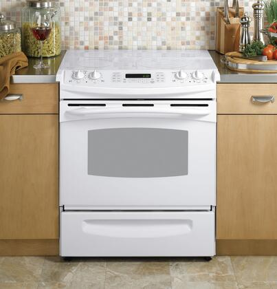 GE PS968TPWW Profile Series Slide-in Electric Range with Smoothtop Cooktop Storage 4.1 cu. ft. Primary Oven Capacity