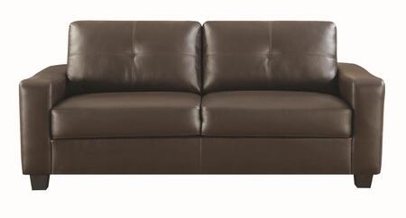 Coaster 502731 Jasmine Series Stationary Leather Match Sofa
