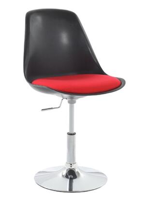 Fine Mod Imports FMI2129 Stainless Steel Base Lily Side Chair Bar Stool Black Shell: X Upholstery