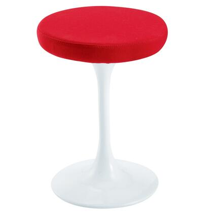 Fine Mod Imports FMI925XRED Flower Stool Chair, Red