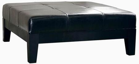 Wholesale Interiors Y195023BLACK Dana Series Contemporary Leather Ottoman