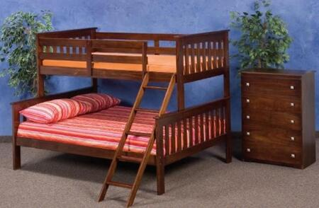 Donco 1222 Twin Over Full Mission Style Bunk Bed: