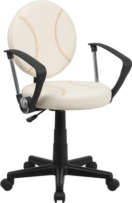Flash Furniture BT6179BASEXGG Baseball Brown/Cream Nylon Task Chair