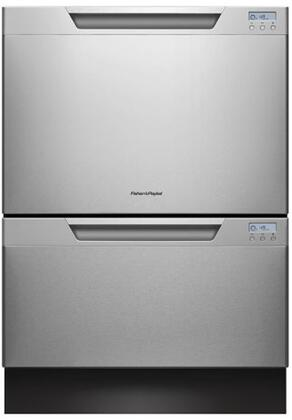 """Fisher Paykel DD24DCHTX7 24"""" DishDrawer Series Drawers Semi-Integrated Dishwasher"""
