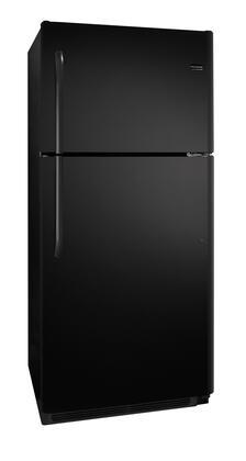 Frigidaire FFHT2126PB Freestanding Top Freezer Refrigerator with 20.6 cu. ft. Total Capacity 2 Glass Shelves 5.3 cu. ft. Freezer Capacity