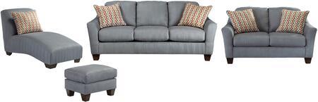 Milo Italia MI2785SLCLOLAGO Victoria Living Room Sets