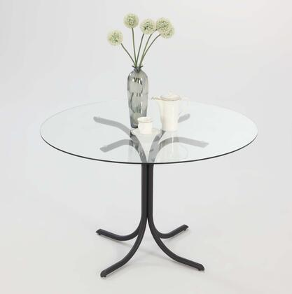 """Chintaly CECEDT CECE DINING 42"""" x 42"""" Clear Glass Dining Table with  """"X"""" Shape Base"""