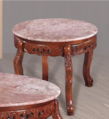 Meridian 266PE 266 Series Traditional Wood Oval None Drawers End Table