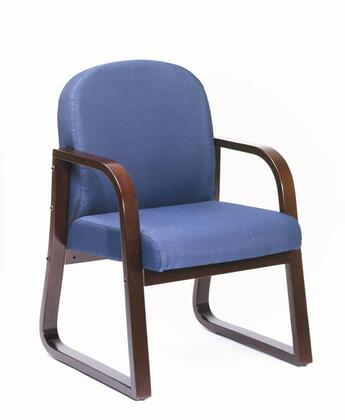 """Boss B9570 34"""" Mahogany Frame Side Chair with Extra Thick Seat and Back Cushions"""