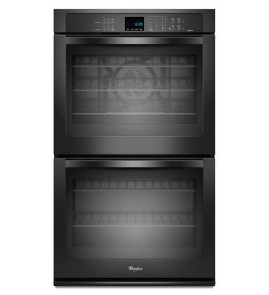 "Whirlpool WOD93EC0AX 30"" Double Electric Wall Oven With 5.0 Cu. Ft. Per Oven, Self-Clean, True Convection Cooking, Hidden Bake Element, Steam Clean Option, Digital Clock, and 5 Oven Racks"