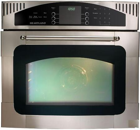 "Heartland 9800CD0 30"" Single Electric Wall Oven with 4.0 cu. ft Oven Capacity, 2-Speed Multi-Mode Convection Oven, Self-Clean, 8-Pass Broil, Sabbath Mode and Temperature Probe"