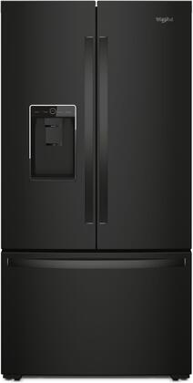 """Whirlpool WRF954CIHx 36"""" Freestanding French Door Refrigerator with 17.5 cu. ft. Refrigerator Capacity, 6.3 cu. ft. Freezer Capacity, 3 Spill Proof Shelves,  External Ice and Water Dispenser, in"""