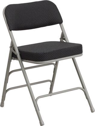 Flash Furniture AWMC320AFGG HERCULES Series Premium Curved Triple Braced & Double Hinged Fabric Upholstered Metal Folding Chair