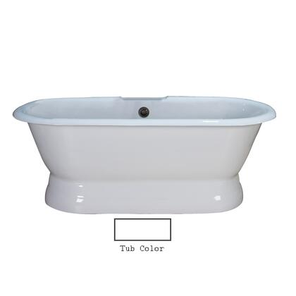 """Barclay CTDRNB Duet 67"""" Cast Iron Double Roll Top Tub with Base and Non-Skid Strips, in"""