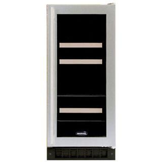 "Marvel 3BARMWWGR 14.88"" Built-In Wine Cooler, in White Frame Glass Door"