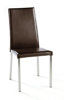 Tag 390083 Contemporary Leather Wood Frame Dining Room Chair