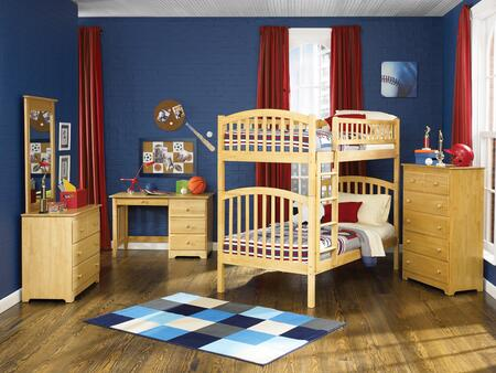 Atlantic Furniture YBBRICHMONDTWINTWINALNM Richmond Series  Twin Size Bunk Bed